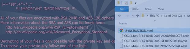 Aesir病毒破解: 刪除勒索軟件和解密.aesir/.zzzzz擴展名文件