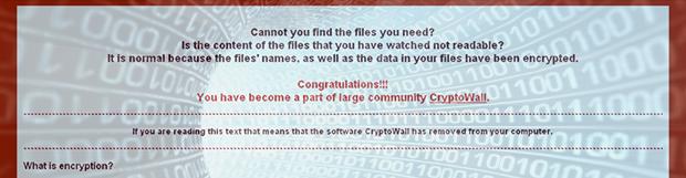 怎样为CryptoWall 4.0随机电脑病毒解码