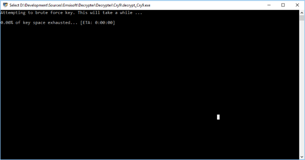 Cry9 Decryptor強制解密密鑰