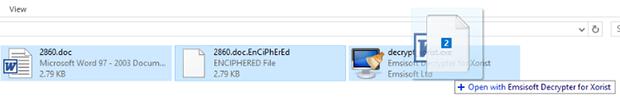 將文件拖放到解密GUI上