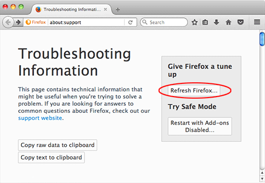 刷新Mozilla Firefox
