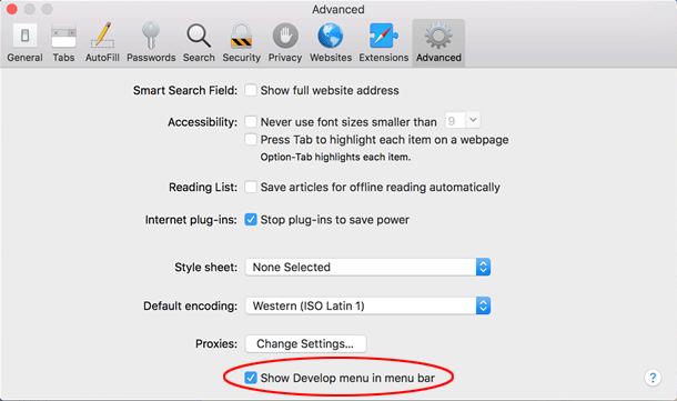 將Safari重置為其默認設置