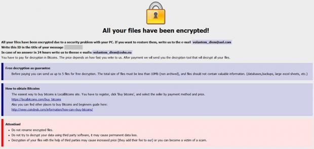 Onion ransomware的警告提示與初步恢復亮點