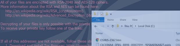 Osiris勒索軟件:解密和刪除.osiris文件病毒