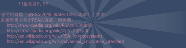 所有文件都用RSA-2048和AES-128加密: 解密勒索軟件病毒