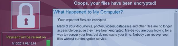 Wcry ransomware:解密文件並刪除電腦病毒